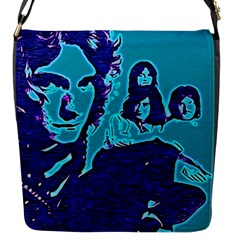 Led Zeppelin Digital Painting Flap Closure Messenger Bag (small) by SaraThePixelPixie