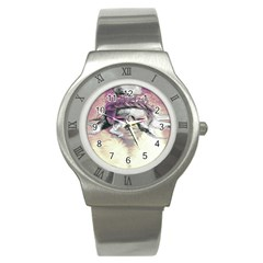 Tentacles Of Pain Stainless Steel Watch (slim) by FunWithFibro