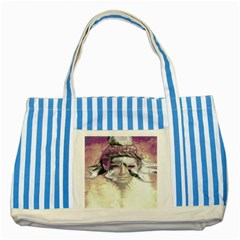 Tentacles Of Pain Blue Striped Tote Bag by FunWithFibro