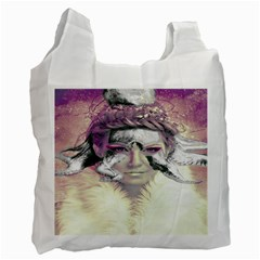 Tentacles Of Pain White Reusable Bag (one Side) by FunWithFibro