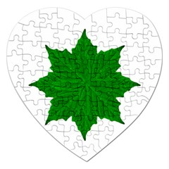 Decorative Ornament Isolated Plants Jigsaw Puzzle (heart) by dflcprints