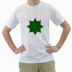 Decorative Ornament Isolated Plants Men s T-shirt (white)  by dflcprints