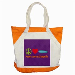 Peace Love & Zeppelin Accent Tote Bag by SaraThePixelPixie