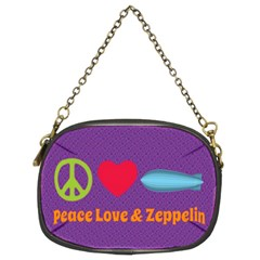 Peace Love & Zeppelin Chain Purse (two Sided)  by SaraThePixelPixie