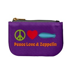 Peace Love & Zeppelin Coin Change Purse by SaraThePixelPixie