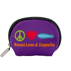 Peace Love & Zeppelin Accessory Pouch (small) by SaraThePixelPixie