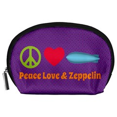 Peace Love & Zeppelin Accessory Pouch (large) by SaraThePixelPixie
