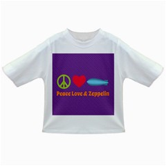 Peace Love & Zeppelin Baby T Shirt by SaraThePixelPixie
