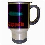 Peace Love & Zeppelin Travel Mug (Silver Gray) Right