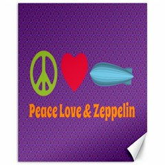 Peace Love & Zeppelin Canvas 11  X 14  (unframed) by SaraThePixelPixie