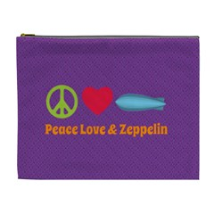 Peace Love & Zeppelin Cosmetic Bag (xl)
