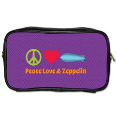 Peace Love & Zeppelin Travel Toiletry Bag (one Side) by SaraThePixelPixie