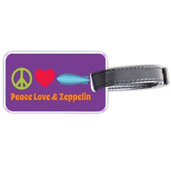 Peace Love & Zeppelin Luggage Tag (one Side)