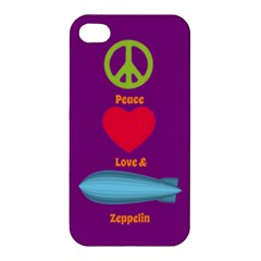 Peace Love & Zeppelin Apple Iphone 4/4s Premium Hardshell Case by SaraThePixelPixie
