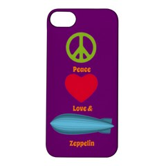 Peace Love & Zeppelin Apple Iphone 5s Hardshell Case by SaraThePixelPixie