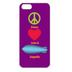 Peace Love & Zeppelin Apple Iphone 5 Seamless Case (white) by SaraThePixelPixie