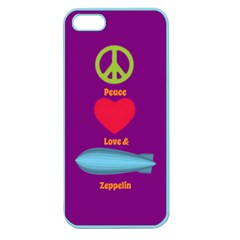 Peace Love & Zeppelin Apple Seamless Iphone 5 Case (color) by SaraThePixelPixie