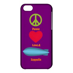 Peace Love & Zeppelin Apple Iphone 5c Hardshell Case by SaraThePixelPixie
