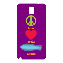 Peace Love & Zeppelin Samsung Galaxy Note 3 N9005 Hardshell Back Case by SaraThePixelPixie