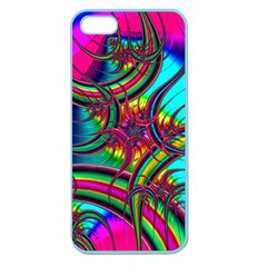 Abstract Neon Fractal Rainbows Apple Seamless Iphone 5 Case (color) by StuffOrSomething