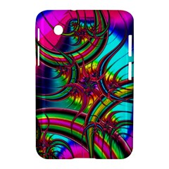 Abstract Neon Fractal Rainbows Samsung Galaxy Tab 2 (7 ) P3100 Hardshell Case