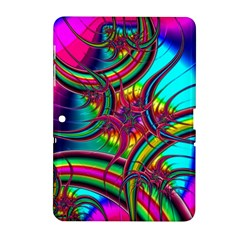 Abstract Neon Fractal Rainbows Samsung Galaxy Tab 2 (10 1 ) P5100 Hardshell Case  by StuffOrSomething