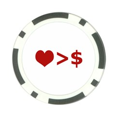 Love Is More Than Money Poker Chip by dflcprints