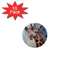 Giraffe 1  Mini Button (10 Pack) by ArtByThree