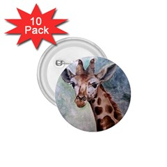 Giraffe 1 75  Button (10 Pack)