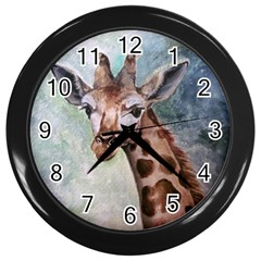 Giraffe Wall Clock (black)