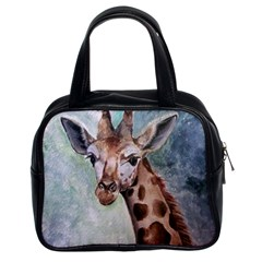Giraffe Classic Handbag (two Sides) by ArtByThree
