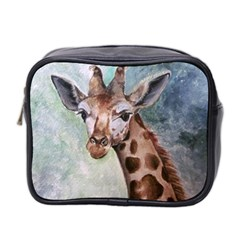 Giraffe Mini Travel Toiletry Bag (two Sides)