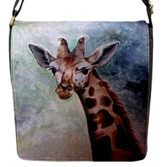 Giraffe Flap Closure Messenger Bag (small) by ArtByThree