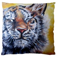 Tiger Large Cushion Case (single Sided)  by ArtByThree