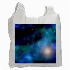 Amazing Universe White Reusable Bag (two Sides) by StuffOrSomething