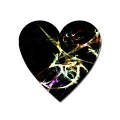 Futuristic Abstract Dance Shapes Artwork Magnet (heart) by dflcprints