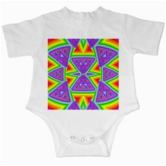 Trippy Rainbow Triangles Infant Bodysuit by SaraThePixelPixie