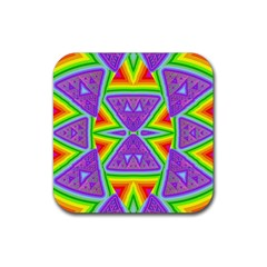 Trippy Rainbow Triangles Drink Coasters 4 Pack (square)