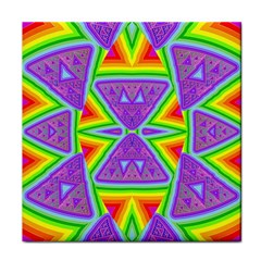 Trippy Rainbow Triangles Face Towel