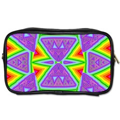 Trippy Rainbow Triangles Travel Toiletry Bag (two Sides)