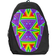 Trippy Rainbow Triangles Backpack Bag by SaraThePixelPixie