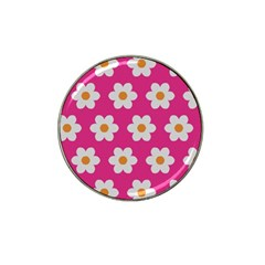 Daisies Golf Ball Marker (for Hat Clip) by SkylineDesigns