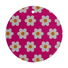 Daisies Round Ornament (two Sides) by SkylineDesigns