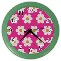 Daisies Wall Clock (color) by SkylineDesigns