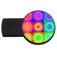 Retro Circles 2gb Usb Flash Drive (round)