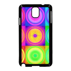 Retro Circles Samsung Galaxy Note 3 Neo Hardshell Case (black) by SaraThePixelPixie
