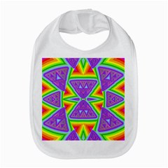 Trippy Rainbow Triangles Bib by SaraThePixelPixie