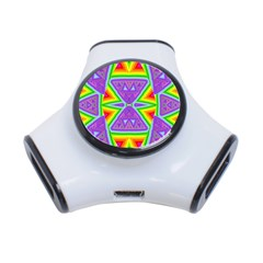 Trippy Rainbow Triangles 3 Port Usb Hub