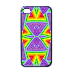 Trippy Rainbow Triangles Apple Iphone 4 Case (black)