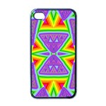 Trippy Rainbow Triangles Apple iPhone 4 Case (Black) Front